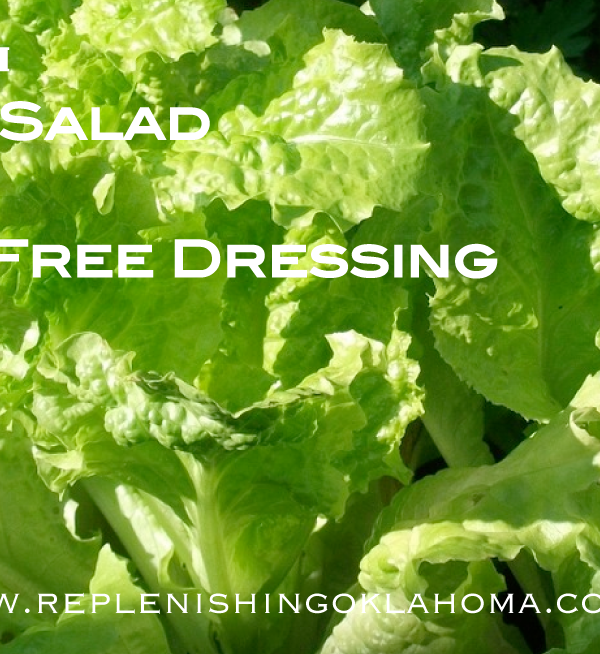 Homegrown Garden Salad with Gluten Free Salad Dressing