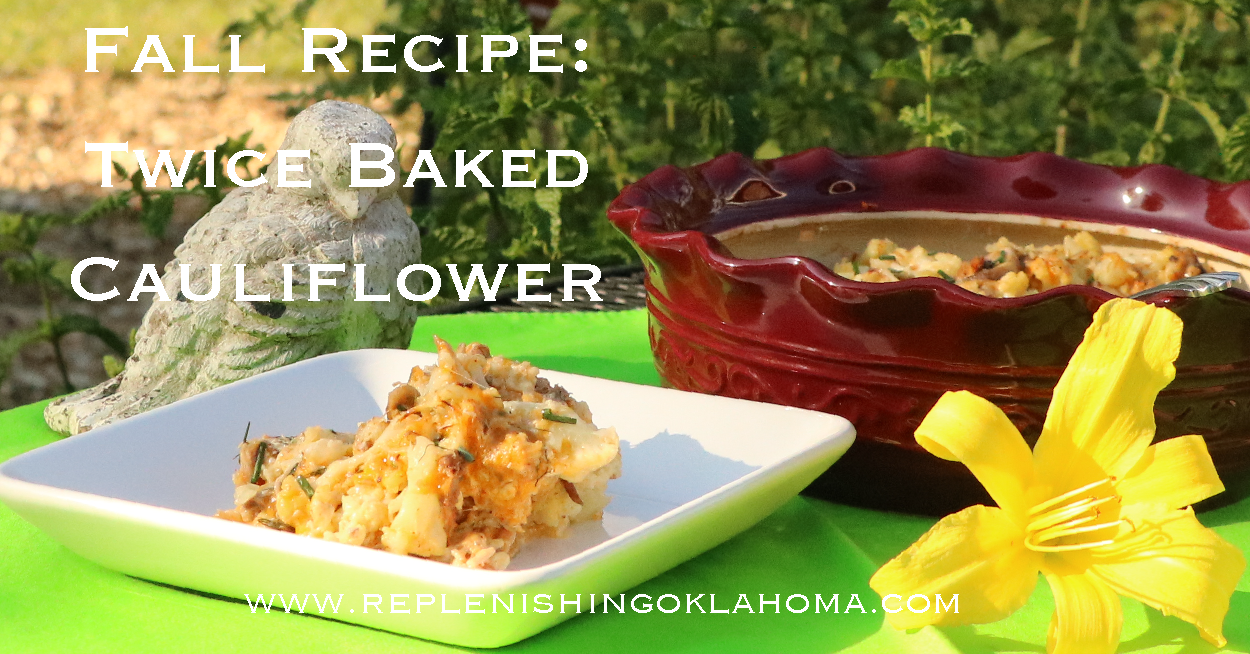 Fall Farmers Market Recipes: Twice Baked Cauliflower