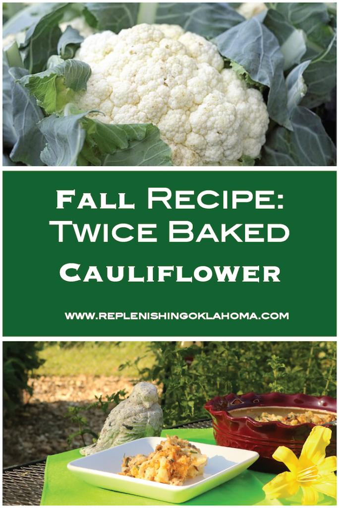 fall recipe: twice baked cauliflower