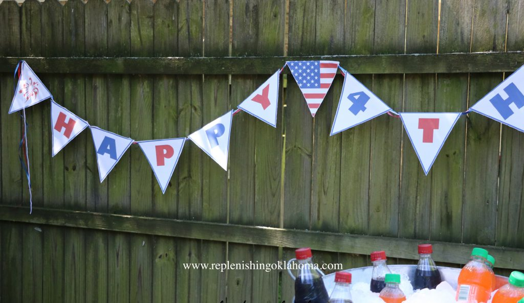 4th of July Banner Printable