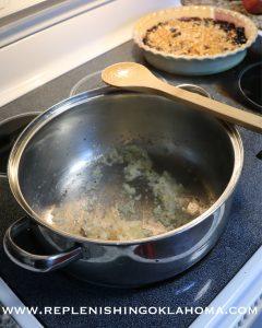 Cook onions until translucent