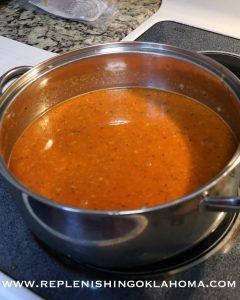 Add tomato sauce, Italian seasoning and crushed garlic