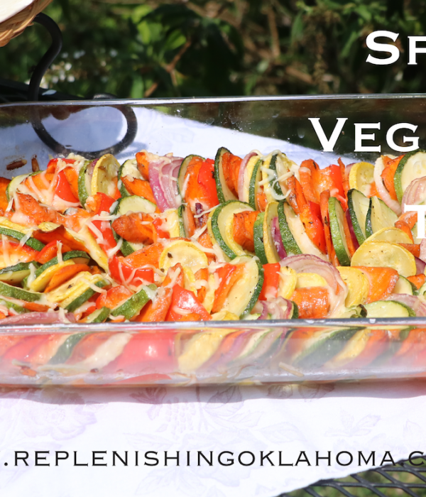 Squash Tian with Sliced Vegetables